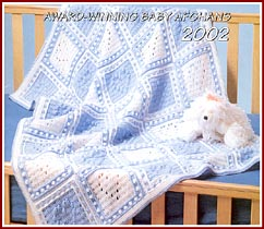 Baby Blueberry Gingham afghan won the first prize in Herrschners Grand National Afghan Contest 2002