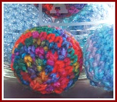 Animal Aid of SW MI sells these crocheted balls stuffed with fiberfill and catnip to raise money for its community spay/neuter programs.