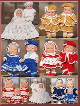 Donna Raye's Gemstone Twins patterns for 5-inch chubby baby dolls