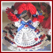 """Americ-Anna"" is a red, white, and blue all-American cookie cutter girl."