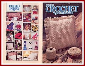 Cover of Annie's Crochet Newsletter, Jan-Feb 1989, which contains the pattern for the Fisherman Bedspread.