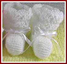 Free simple baby bootie pattern