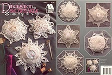 Annies Attic Pincushion Snowflakes