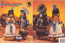 Annie's Attic Indian Brave and Maiden for 15 inch dolls