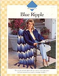 Blue Ripple afghan