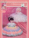 Marissa Bride/ Rainbow dress and accessories for 13 inch doll or pillow doll..