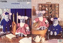 Leisure Arts Crocheted Church Mice