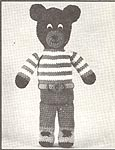 Annie's Attic Hug-A-Bears: Big Bear (original black & white)