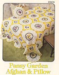 Annie's Attic Pansy Garden Afghan & Pillow