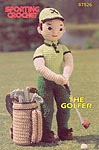 Annie's Attic Sporting Crochet, 14 in Golfing Guy in soft sculpture