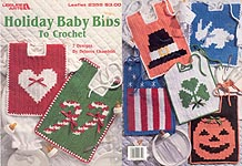 Leisure Arts Holiday Bibs to Crochet