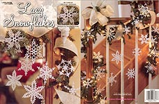 Leisure Arts Lacy Snowflakes