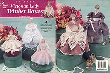 Annie's Attic Victorian Lady Trinket Boxes