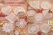 ASN A Dozen Tiny Doilies in Thread Crochet