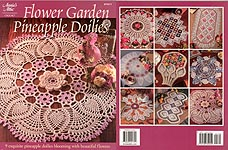 Annie's Attic Flower Garden Pineapple Doilies