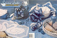 Annie's Attic Crochet Swan Lake Bath Set