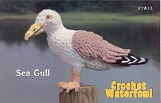 Annie's Attic Birds of a Feather Crochet Waterfowl -- Sea Gull