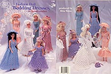 ASN Fashion Doll Wedding Dresses in Thread Crochet