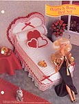 Annies Fashion Doll Crochet Club: Hearts & Bows Bed Set