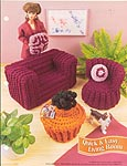 Annies Fashion Doll Crochet Club: Quick & Easy Living Room