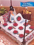 Annies Fashion Doll Crochet Club: Wild Rose Afghan and Pillow