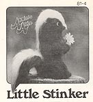 Annie's Attic Little Stinker, original black and white SEWING pattern