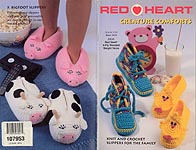 Red Heart Creature Comforts slippers