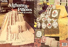 Leisure Arts Afghans & Pillows to Knit and Crochet