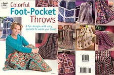 Annie's Attic Colorful Foot- Pocket Throws