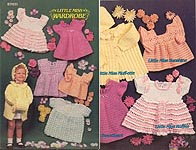 Annie's Attic Little Miss Wardrobe, dresses for little girls size 1, 2, and 3