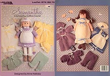 Leisure Arts Samantha 18 inch crocheted doll