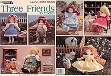Leisure Arts Three Friends to Crochet 9-1/2 inch crocheted doll