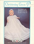 SEW Christening Gown for 15 inch baby doll.