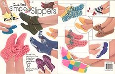 Annie's Attic Crochet Quick Stitch Simple Slippers
