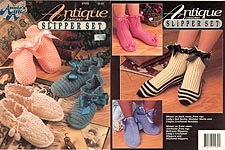 Annie's Attic Crochet Antique Slipper Set