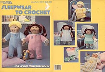 "Leisure Arts Sleepwear to Crochet for 16"" Soft Sculpture Dolls"