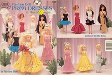 ASN Fashion Doll Prom Dresses in Thread Crochet