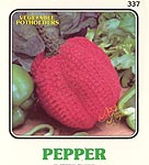 Annie's Attic Vegetable Potholders: Pepper
