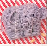 Baby Elephant Pillow, Annie's Pattern Club #42, Dec - Jan 87