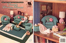 Fashion Doll Home Decor Crochet Collectors' Guild: Classic Living Room