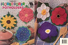 Annie's Attic Crochet Flower Power Potholders