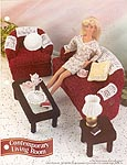 Annies Fashion Doll Crochet Club: Contemporary Living Room