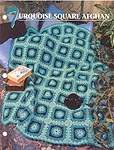 Annie's Crochet Quilt & Afghan Club, Turquoise Square Afghan