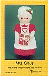 Td creations Yarn Hair Doll Mrs. Claus