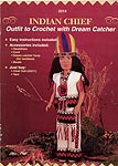 Indian Chief outfit for 16 inch male craft doll.