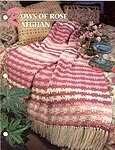 Annie's Crochet Quilt & Afghan Club, Rows of Rose Afghan