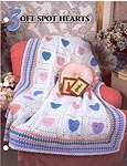 Annie's Crochet Quilt & Afghan Club, Soft Spots Hearts Afghan