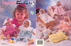 Baby Syndee's Layette, by Annie's Attic -- well-used, with notes on every page for making outfits in different sizes.