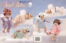 Crochet Angel Babies, outfits for 12-inch baby dolls.