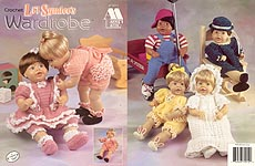 Crochet Little Syndee's Wardrobe, outfits for 16-inch baby doll.